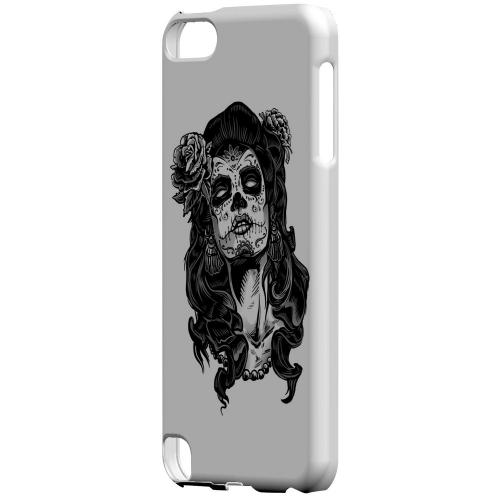 Geeks Designer Line (GDL) Slim Hard Case for Apple iPod Touch 5 - Day of the Dead Girl on White