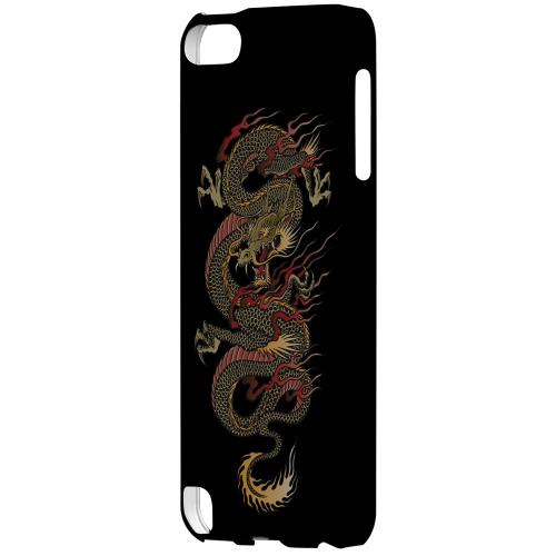 Geeks Designer Line (GDL) Slim Hard Case for Apple iPod Touch 5 - Dragon on Black
