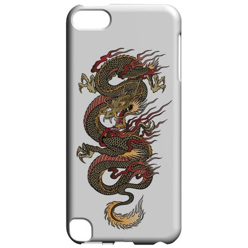 Geeks Designer Line (GDL) Slim Hard Case for Apple iPod Touch 5 - Dragon on White