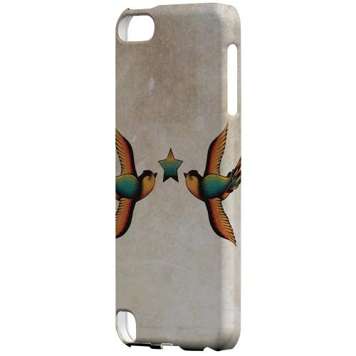 Geeks Designer Line (GDL) Slim Hard Case for Apple iPod Touch 5 - Dual Swallow Star