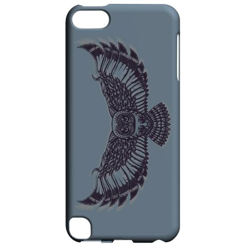 Geeks Designer Line (GDL) Slim Hard Case for Apple iPod Touch 5 - Flying Owl Blue/ Gray