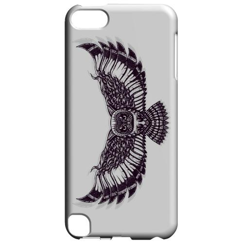 Geeks Designer Line (GDL) Slim Hard Case for Apple iPod Touch 5 - Flying Owl on White