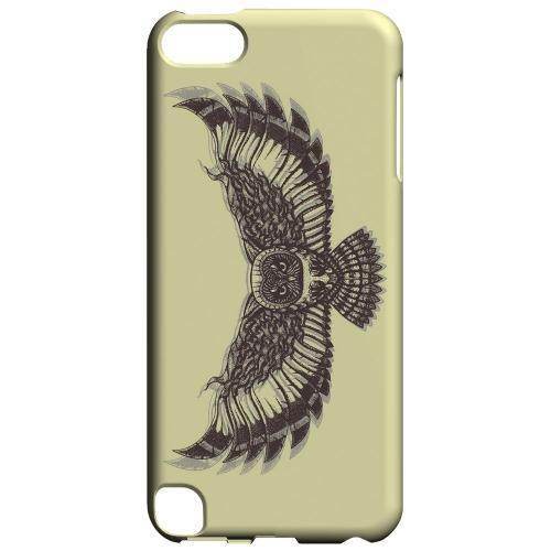 Geeks Designer Line (GDL) Slim Hard Case for Apple iPod Touch 5 - Flying Owl on Yellow