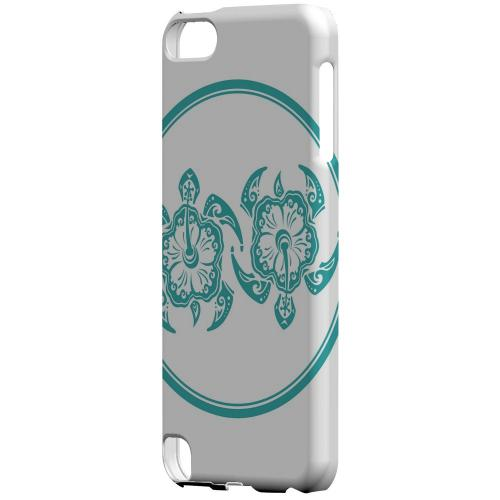 Geeks Designer Line (GDL) Slim Hard Case for Apple iPod Touch 5 - Aqua Island Turtle Duo
