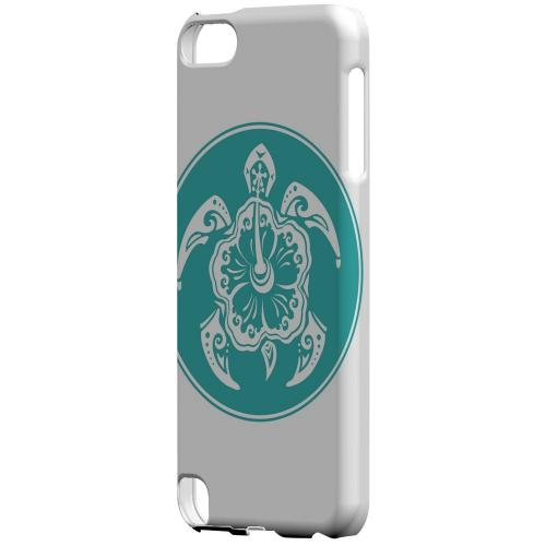 Geeks Designer Line (GDL) Slim Hard Case for Apple iPod Touch 5 - Aqua Island Turtle Solo
