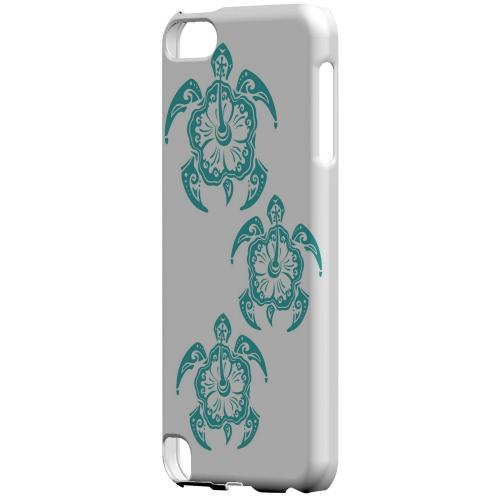 Geeks Designer Line (GDL) Slim Hard Case for Apple iPod Touch 5 - Aqua Island Turtle Trail