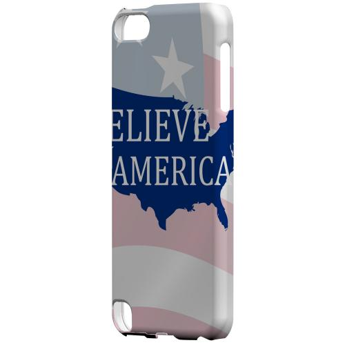 Geeks Designer Line (GDL) Slim Hard Case for Apple iPod Touch 5 - Believe in America