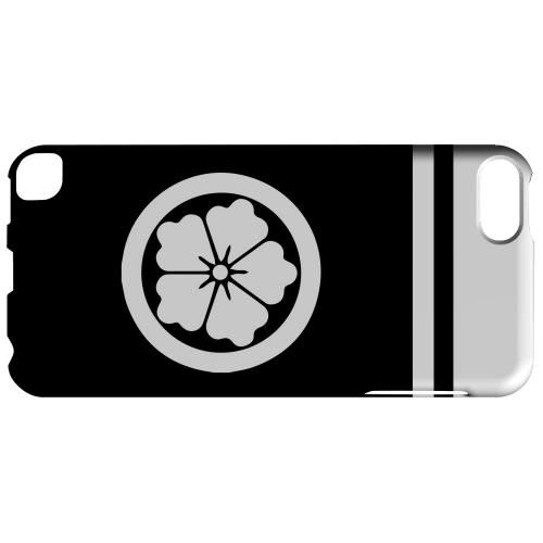 Geeks Designer Line (GDL) Slim Hard Case for Apple iPod Touch 5 - White Karahana Kamon w/ Stripe
