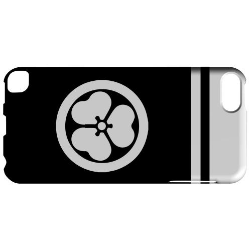 Geeks Designer Line (GDL) Slim Hard Case for Apple iPod Touch 5 - White Katabami Kamon w/ Stripe v.1