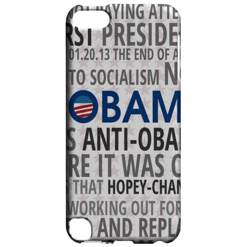 Geeks Designer Line (GDL) Slim Hard Case for Apple iPod Touch 5 - NOBAMA
