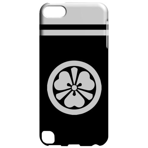 Geeks Designer Line (GDL) Slim Hard Case for Apple iPod Touch 5 - White Katabami Kamon w/ Stripe v.3