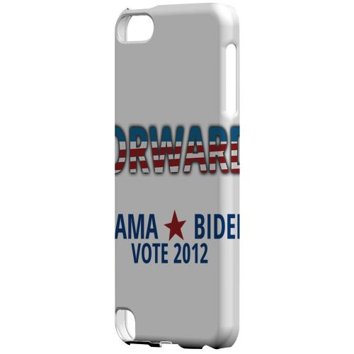 Geeks Designer Line (GDL) Slim Hard Case for Apple iPod Touch 5 - Obama. Biden. Forward.