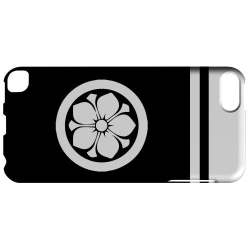 Geeks Designer Line (GDL) Slim Hard Case for Apple iPod Touch 5 - White Kikyo Kamon w/ Stripe v.3
