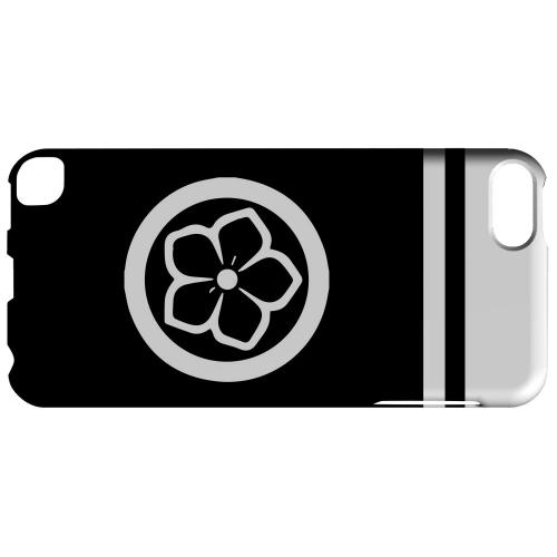 Geeks Designer Line (GDL) Slim Hard Case for Apple iPod Touch 5 - White Kikyo Kamon w/ Stripe v.4