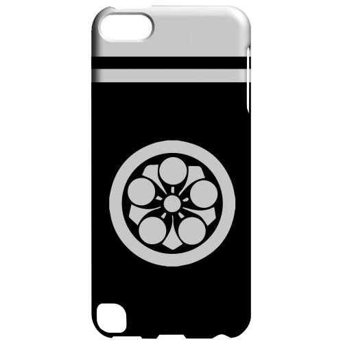 Geeks Designer Line (GDL) Slim Hard Case for Apple iPod Touch 5 - White Umebachi Kamon w/ Stripe v.2