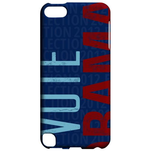 Geeks Designer Line (GDL) Slim Hard Case for Apple iPod Touch 5 - Red/Blue Obama