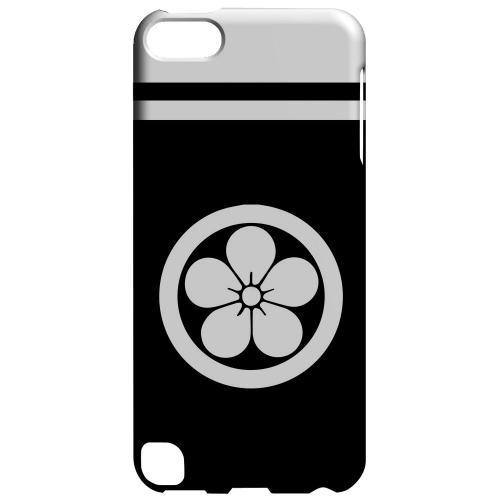 Geeks Designer Line (GDL) Slim Hard Case for Apple iPod Touch 5 - White Umebachi Kamon w/ Stripe v.3