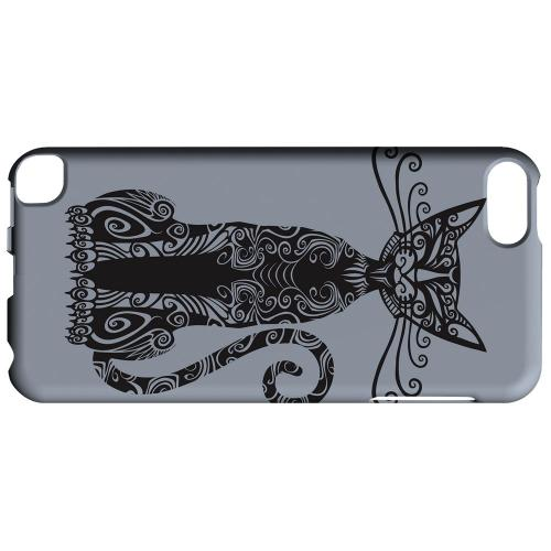 Geeks Designer Line (GDL) Slim Hard Case for Apple iPod Touch 5 - Kitty Nouveau on Blue/ Gray