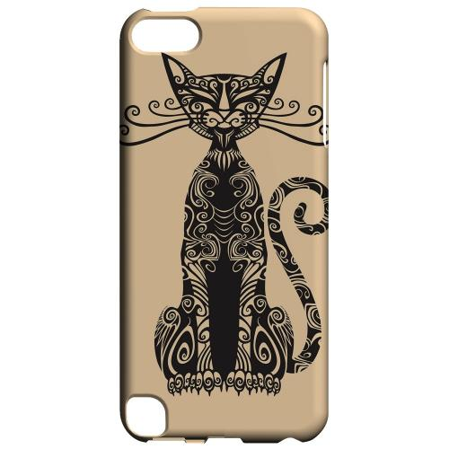Geeks Designer Line (GDL) Slim Hard Case for Apple iPod Touch 5 - Kitty Nouveau on Peach