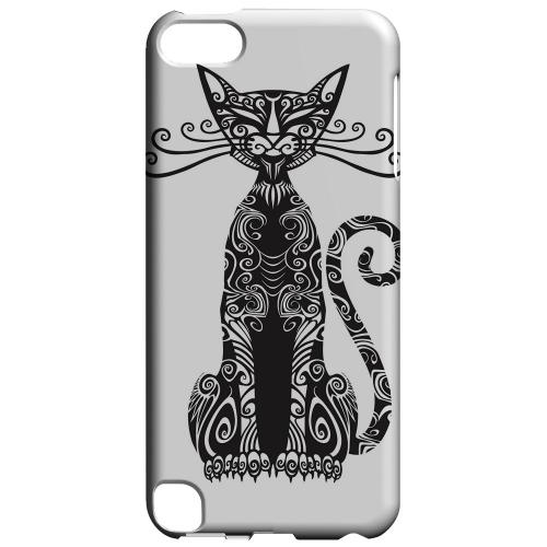 Geeks Designer Line (GDL) Slim Hard Case for Apple iPod Touch 5 - Kitty Nouveau on White