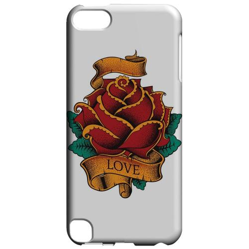 Geeks Designer Line (GDL) Slim Hard Case for Apple iPod Touch 5 - Love Rose on White