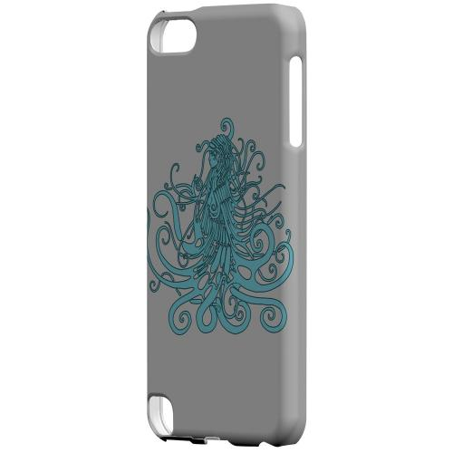 Geeks Designer Line (GDL) Slim Hard Case for Apple iPod Touch 5 - Aqua Medusa on White