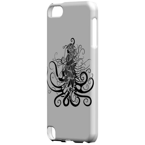 Geeks Designer Line (GDL) Slim Hard Case for Apple iPod Touch 5 - Black Medua on White