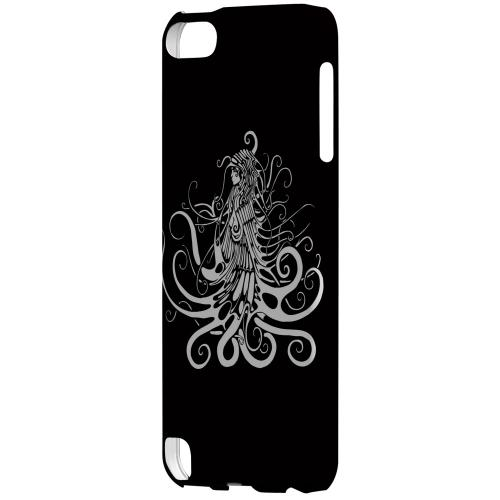 Geeks Designer Line (GDL) Slim Hard Case for Apple iPod Touch 5 - White Medusa on Black