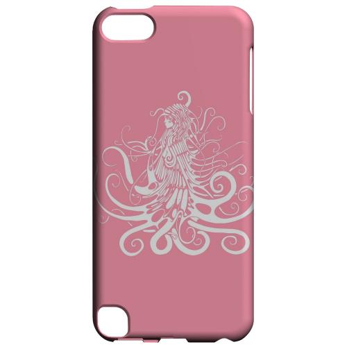 Geeks Designer Line (GDL) Slim Hard Case for Apple iPod Touch 5 - White Medusa on Pink