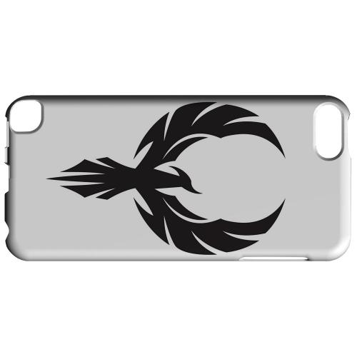 Geeks Designer Line (GDL) Slim Hard Case for Apple iPod Touch 5 - Black Phoenix on White