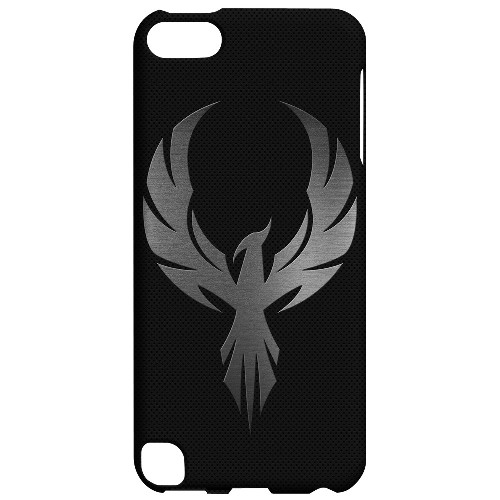 Geeks Designer Line (GDL) Slim Hard Case for Apple iPod Touch 5 - Phoenix Metal on Dark Gray Texture