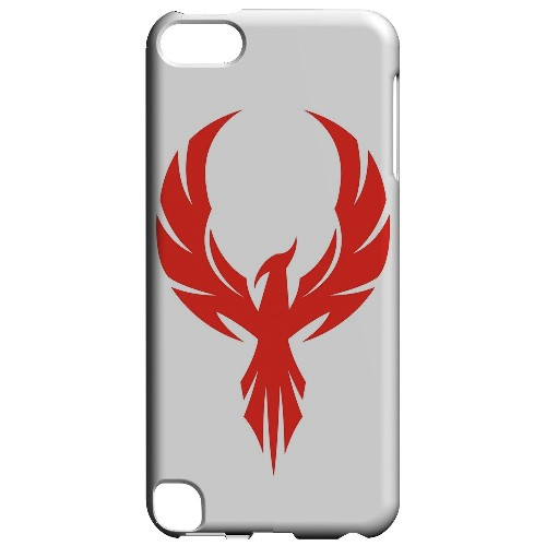 Geeks Designer Line (GDL) Slim Hard Case for Apple iPod Touch 5 - Phoenix Red on White