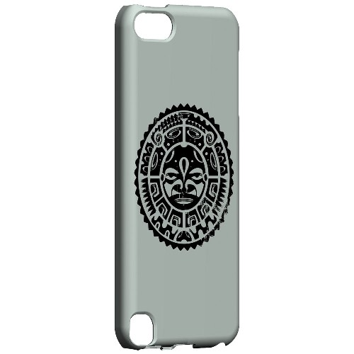 Geeks Designer Line (GDL) Slim Hard Case for Apple iPod Touch 5 - Polynesian Face on Gray