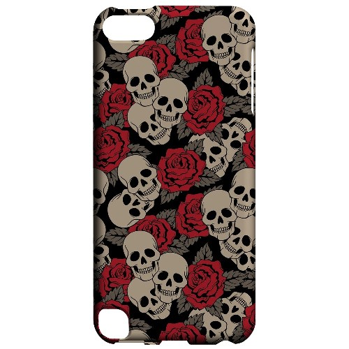 Geeks Designer Line (GDL) Slim Hard Case for Apple iPod Touch 5 - Rose Skulls
