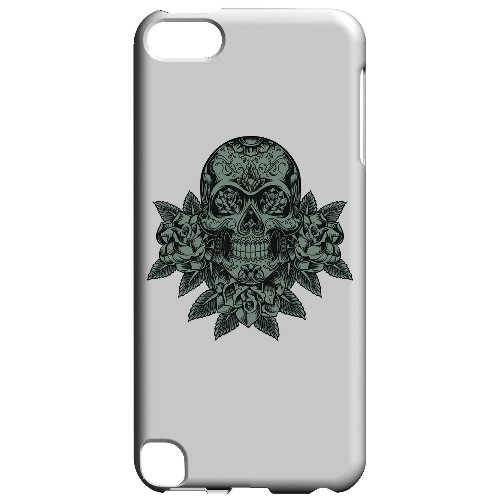 Geeks Designer Line (GDL) Slim Hard Case for Apple iPod Touch 5 - Skull Roses Aqua