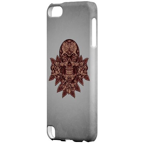 Geeks Designer Line (GDL) Slim Hard Case for Apple iPod Touch 5 - Skull Roses Red Grunge