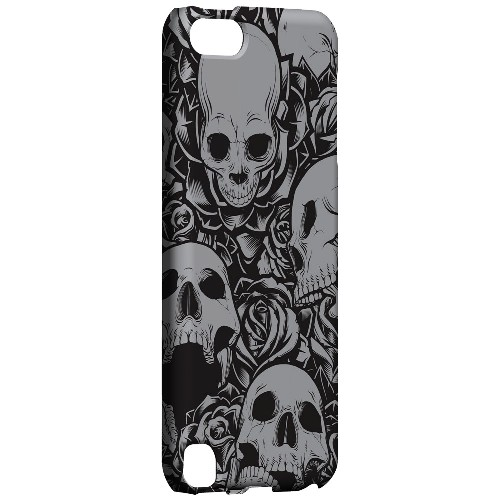 Geeks Designer Line (GDL) Slim Hard Case for Apple iPod Touch 5 - Skulls Rose Gray