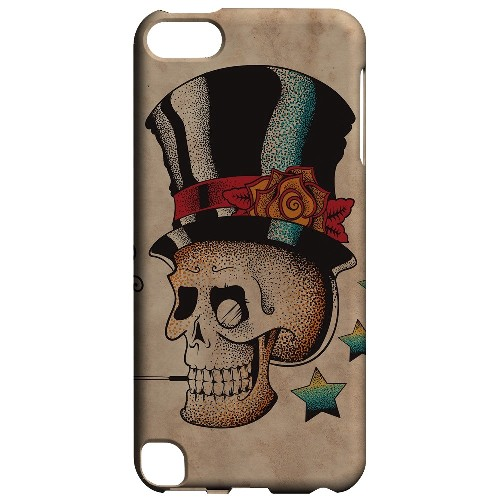 Geeks Designer Line (GDL) Slim Hard Case for Apple iPod Touch 5 - Smoking Skull