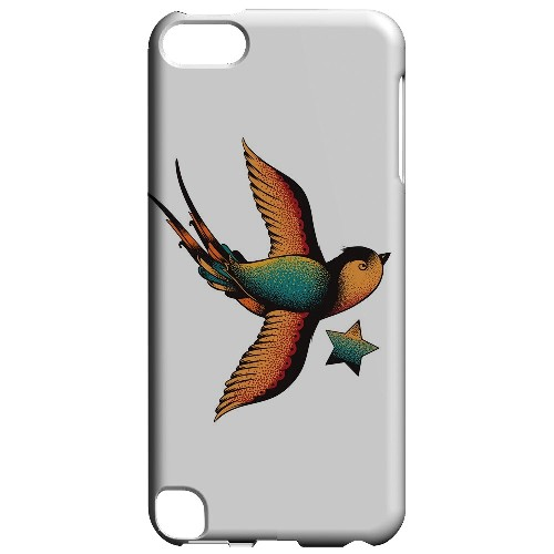 Geeks Designer Line (GDL) Slim Hard Case for Apple iPod Touch 5 - Swallow Star on White