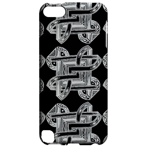Geeks Designer Line (GDL) Slim Hard Case for Apple iPod Touch 5 - Tribal Art Pattern on Black