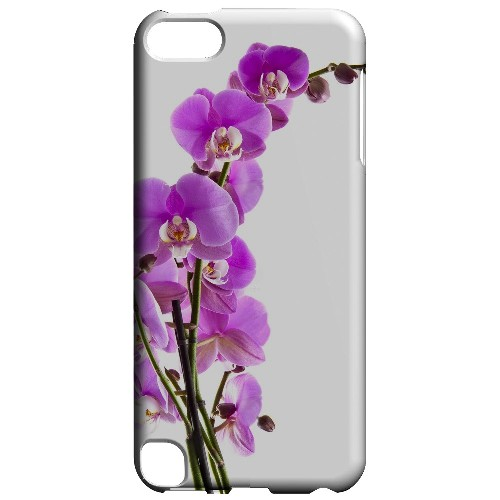 Geeks Designer Line (GDL) Slim Hard Case for Apple iPod Touch 5 - Violet Orchid Rising