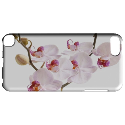 Geeks Designer Line (GDL) Slim Hard Case for Apple iPod Touch 5 - White Pink Orchid