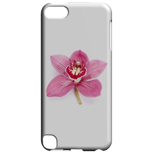 Geeks Designer Line (GDL) Slim Hard Case for Apple iPod Touch 5 - Single Pink Orchid Flower
