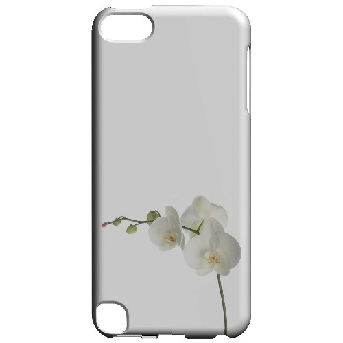 Geeks Designer Line (GDL) Slim Hard Case for Apple iPod Touch 5 - Simple White Orchid