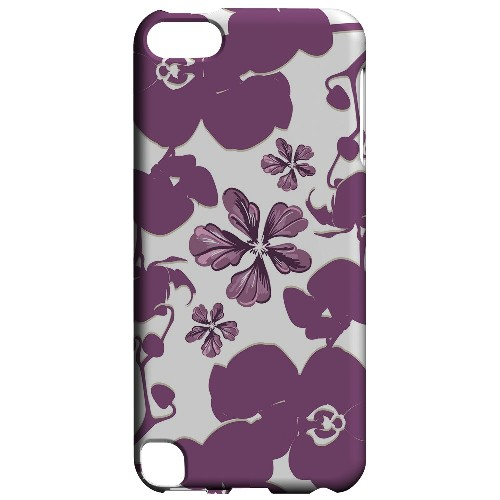 Geeks Designer Line (GDL) Slim Hard Case for Apple iPod Touch 5 - Purple Orchids
