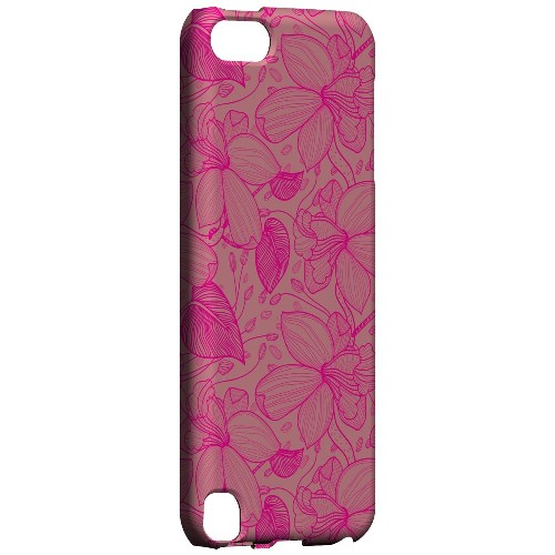 Geeks Designer Line (GDL) Slim Hard Case for Apple iPod Touch 5 - Pink on Pink Orchid Lines