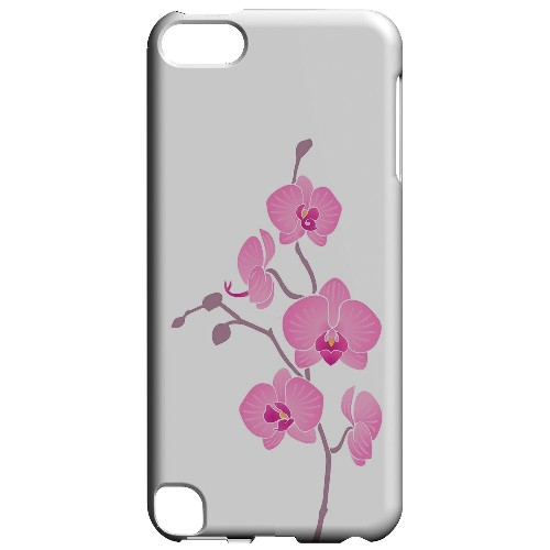 Geeks Designer Line (GDL) Slim Hard Case for Apple iPod Touch 5 - Pink Minimal Orchid Art