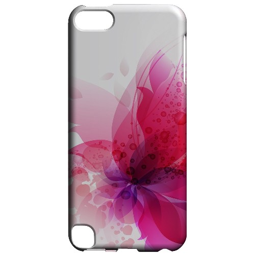 Geeks Designer Line (GDL) Slim Hard Case for Apple iPod Touch 5 - Hot Pink Orchid Swoosh Fade