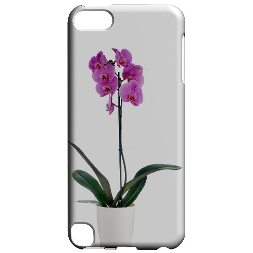Geeks Designer Line (GDL) Slim Hard Case for Apple iPod Touch 5 - Hot Pink Orchid Plant