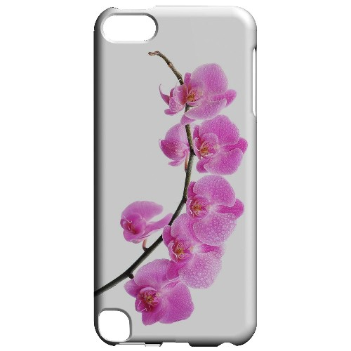 Geeks Designer Line (GDL) Slim Hard Case for Apple iPod Touch 5 - Hot Pink Orchid Curved Branch